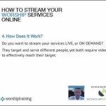 How To Stream Your Worship Services Online